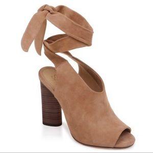 Splendid Navarro Ankle Wrap Suede Peep Toe Sandal